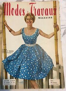 Magazine Modes & Travaux  Juin  1959