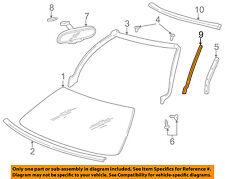 Chevrolet GM OEM 99-04 Corvette Windshield-Reveal Molding Left 10331563