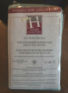New Vintage HAYWIN Royalty Collection 2 STANDARD pillowcases PERCALE Bed Collect