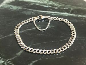 "James Avery Sterling Silver Light Double Curb Charm Bracelet 8"""