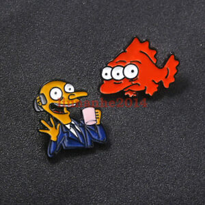 Anime The Simpsons Pins Brooches Alloy Collectible Enamel Badges Gift