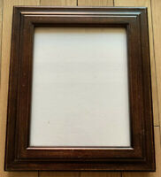 Vintage Wood Picture Frame Under Glass 11.2x13.2 and 7.5x9.5 Inches