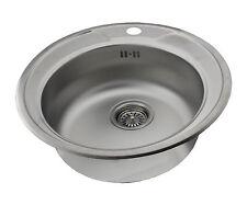 1 Becken Bad & Küche Spülen aus Edelstahl ohne Abtropffläche für ... | {Spülbecken rund edelstahl matt 10}