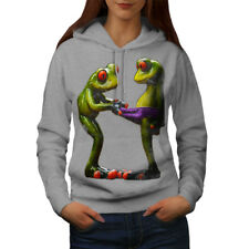 Wellcoda Frogs Cool Joke Womens Hoodie, Underwear Casual Hooded Sweatshirt