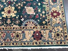 VINTAGE INDO PERSIAN MAHAL ORIENTAL RUG HAND KNOTTED ALLOVER PATTERN WOOL