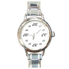 Square Root Italian Charm Watch - Radicals Mathematics Wristwatch