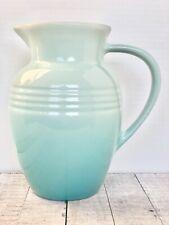 LE CREUSET Stoneware Pitcher 2.25 QT Cool Mint Color Stoneware NWT