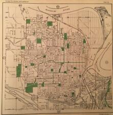 1925 NORTH KANSAS CITY MISSOURI ATLAS MAP