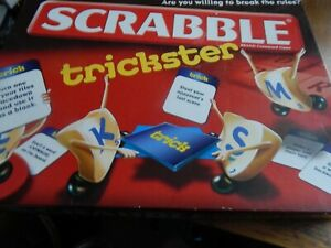 SCRABBLE TRICKSTER By Mattel 2010 Family Board Game