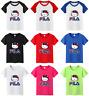 Gosha Rubchinskiy FILA Logo Women's Girls T-shirt Round Neck Tshirt Tee Shirt