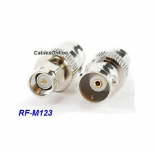 BNC Female Jack to SMA Male Plug Coaxial RF Adapter, CablesOnline RF-M123
