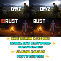 RUST + DAYZ - New Steam Account - Global Region - Fast Delivery