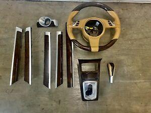 Porsche Cayenne Turbo 2013 Wooden Steering And Dash Trim