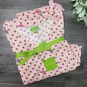 Vera Bradley Women's XS Knit Pajamas PJ Set Blush Heart New
