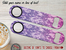Camo Digital Army Violet Personalized Bartender Bar Blades Speed Bottle Openers