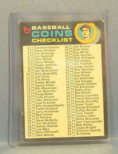 1971 TOPPS BASEBALL COINS CHECKLIST CARD SET BREAK 161