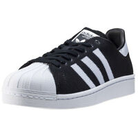 adidas Superstar Mens Black Textile & Synthetic Casual Trainers Lace-up