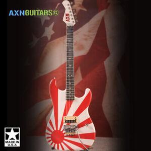 AXN™ Rising Sun Blue Flame Maple Neck Guitar : PRE-ORDER :