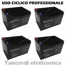 4 BATTERIE PIOMBO 12V 12Ah 150x97x95mm RICARICABILE PROFESSIONALE CICLICA 6DMZ12