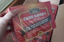 200x Card Saver 1 Semi Rigid Card Holder Cardboard Gold Pokemon, Yu-Gi-Oh, Magic