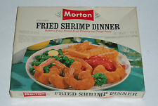 1960's MORTON Fried Shrimp TV DINNER BOX  vintage frozen food
