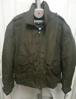 Blauer OD Green Jacket Coat Quilted Lining Law Enforcement Police Men's Large