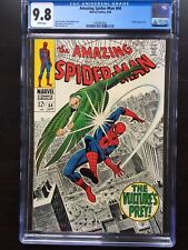 AMAZING SPIDER-MAN #64 CGC NM/MT 9.8; White pg!; Romita cvr; Vulture app.!