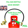 UK Bayonet LPG Filling Point to Gas CYLINDER Propane Bottle 2 Meters FLEXI pipe