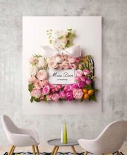 Canvas Art Miss Dior Blooming Bouquet Perfume Art Peony Floral Print Wall Art
