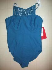 Magicsuit Miraclesuit Blue Cut it Out Juli 1 Pc Underwire Swimsuit Sz 14 NWT