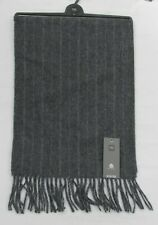 Men's Marks and Spencer Grey Mix Striped Pure Wool Scarf One Size