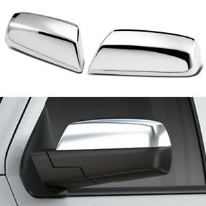 For 2014-2018 Chevy Silverado / GMC Sierra CHROME Top Half Mirror Covers