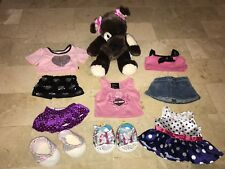 Build A Beat BABW GIRL CLOTHING SHOES LOT Brown White Dog Harley Davidson +++