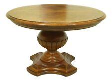LF52372EC: DREXEL Round Walnut Pedestal Dining Room Table