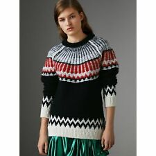 BURBERRY Fair Isle Wool & Cashmere Sweater 1100$ SIZE S