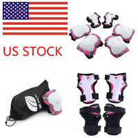 Kuyou Kids Protective Gear,Knee Elbow Pads And Wrist Child'S Pad Set For Inline