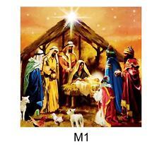 Christmas 40cm x 40cm LED Light up Canvas Picture - Nativity M1