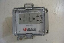 Used GRACE GFCI outlet  H-RF0-K3  5 amp 120 vac  nema 4  ExinPlex Interface
