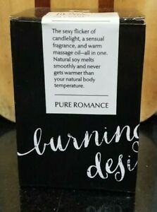 Pure Romance Burning Desire ~ Massage Oil Candle ~ Amazing Won't Burn Super Sexy