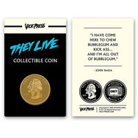 John Carpenter's They Live Gold Collector Coin Only 125 Exist New!