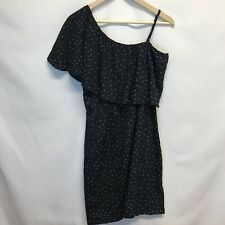 Indulge Black One Shoulder Dress Womens Size XL Great Condition