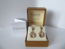 Clogau Gold, 9ct Yellow & Rose Gold Tree of Life Drop Earrings.