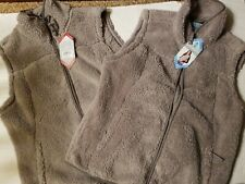 NWT Free Country Women's Size L or XL Warm Plush Vest Beige MSRP $70.00