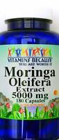 5000mg Moringa Oleifera Leaf 10:1 Extract 180 Capsule Antioxidant Anti Aging VB