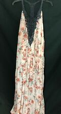 COCO & JAIMESON Daydreamer Floral Embroidered Maxi Dress Sz S