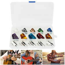 5 Thumb +10 Finger Nail Colorful Guitar Picks Plectrum Guitar Bass Banjo NEW