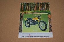 70s Vintage Print Ad Brush Gun Sprint SX350 Harley-Davidson Motorcycle AMF