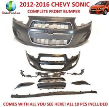 12-16 Chevrolet Sonic FRONT BUMPER COVER COMPLETE ASSEMBLY 10 PC SET ALL NEW!
