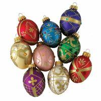 Kurt Adler 45Mm Glass Decorative Egg Ornament 9Pc