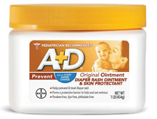 A+D Diaper Rash Ointment, Skin Protectant, Helps Prevent Baby Diaper Rash